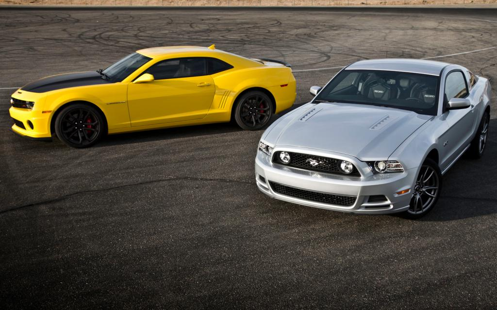 camaro ss vs mustang gt The 2014 camaro ss in 2ss trim also has some good technology navigation, hids, and and a rear-view camera pricing hasn't been announced on the mustang, but the 2014 premium gt starts at about $35k the camaro 2ss starts at $37k, but has more standard technology.